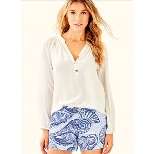 Lilly Pulitzer Shorts in Blue Peri Stuffed Shell